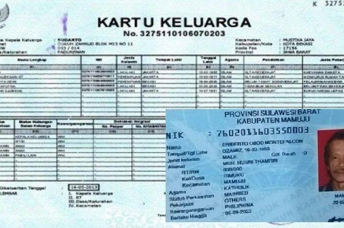 Ilustrasi nomor KTP dan KK untuk dapat bantuan pemerintah