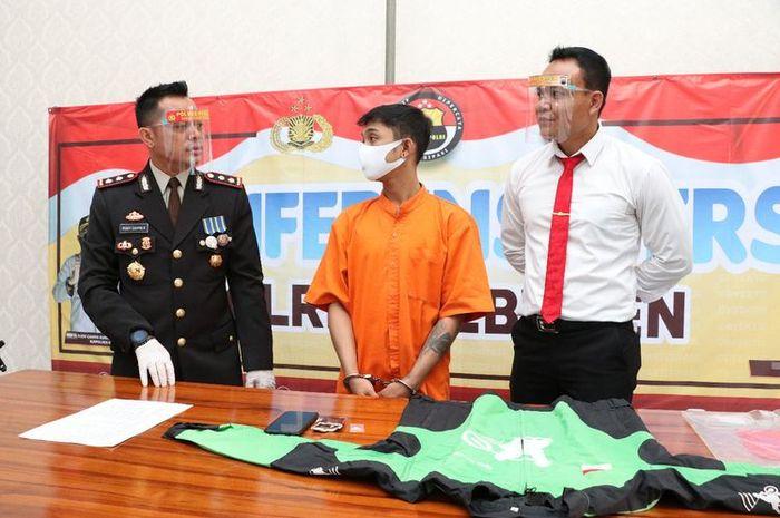 Ungkap kasus kepemilikan sabu di Mapolres Kebumen, Jawa Tengah, Rabu (7/10/2020).