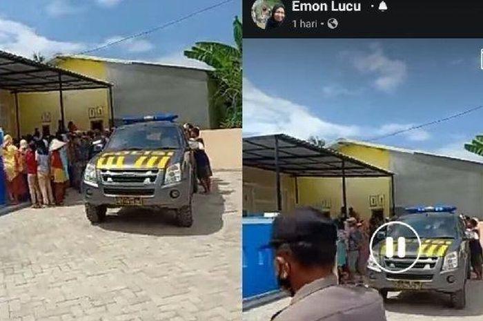 Mobil dinas polisi yang tertangkap rekaman warga, diduga terjadi perselingkuhan oknum polisi dengan istri tentara.