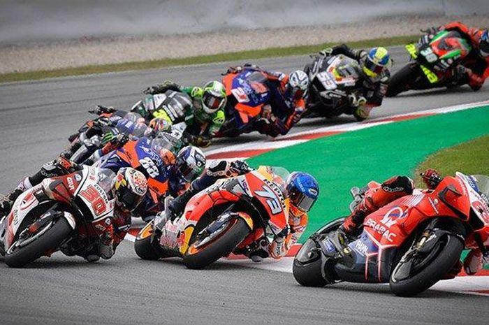 Akan ada perubahan jadwal lagi untuk MotoGP Teruel 2020 karena perubahan cuaca di sirkuit Aragon. (dalam foto: laga MotoGP Aragon 2020).