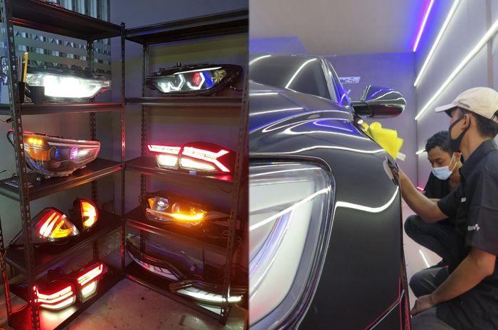 Avantgarde  Auto Jakarta, spesialis upgrade lampu kini melayani detailing dan body wrapping