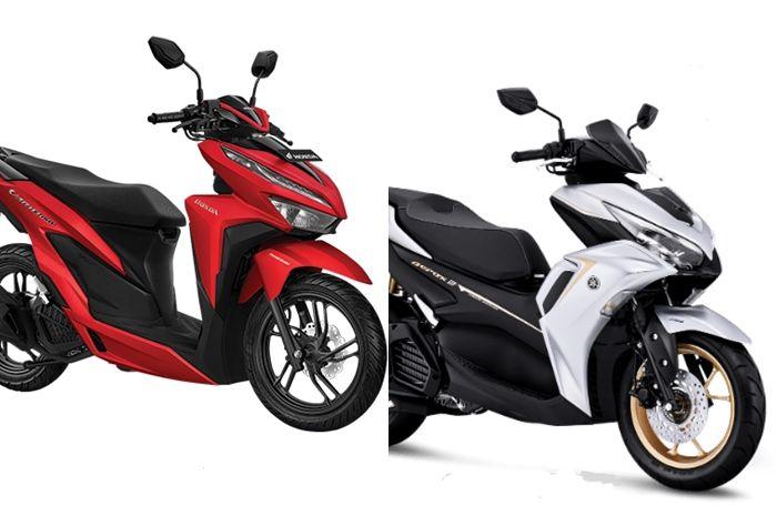 Adu harga dan fitur Yamaha All New Aerox 155 dan Honda Vario 150, lebih canggih dan murah mana?