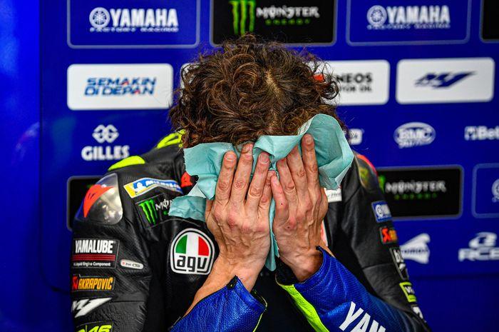 Valentino Rossi kecewa dengan hasil di MotoGP Eropa 2020 (8/11)