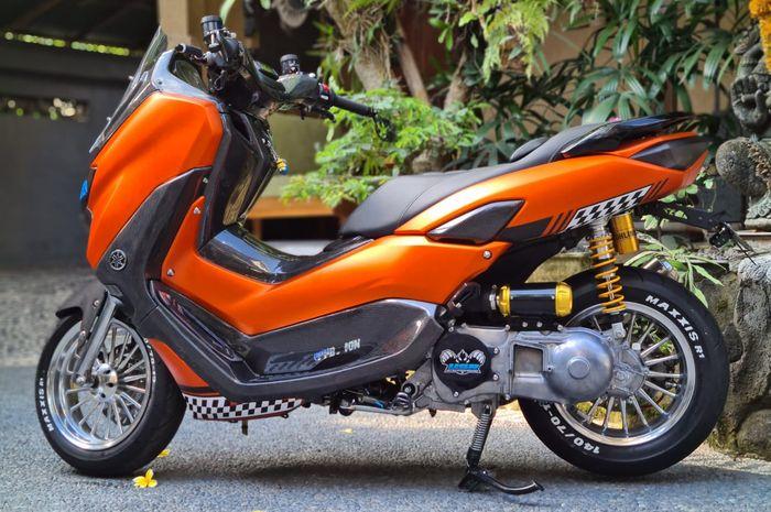 Ada keunikan di tampilan area CVT Yamaha NMAX baru ini, ala 'sleeper' look!