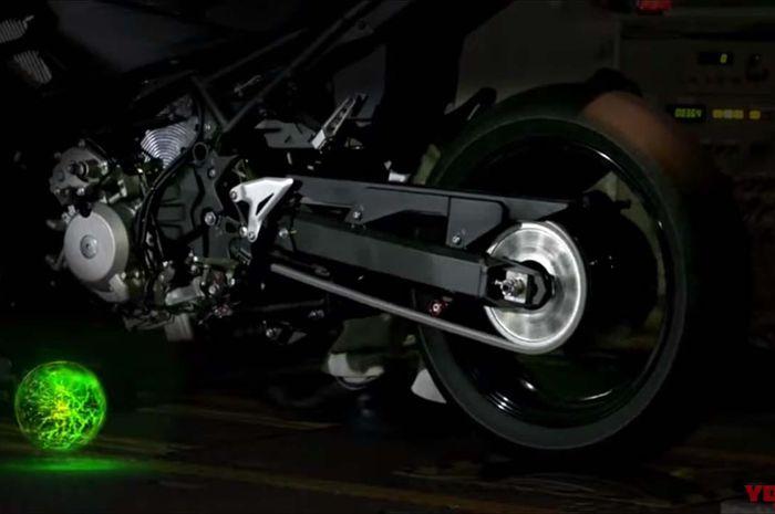 Sosok motor Kawasaki yang akan memiliki teknologi Kawasaki Rideology dan hybrid.