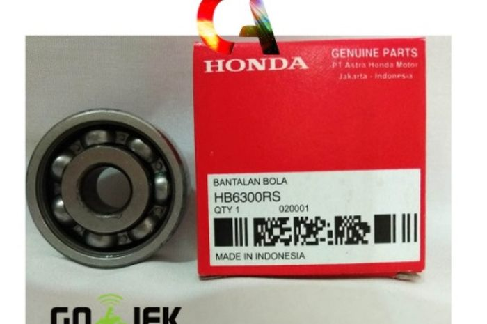 Bearing 6300 Honda salah satu produk yang dijual Clara Autoparts