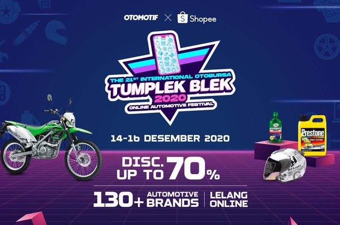 hanya di Otobursa Tumplek Blek 2020 x Shopee bisa belanja spare part motor harga miring.