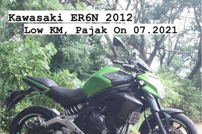 Kawasaki ER-6n tahun 2012 yang ditawarkan KJV Motosport dengan harga Rp 70 jutaan