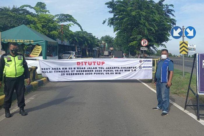 Penutupan Rest area di Tol Trans Jawa.(DOK. JASA MARGA)