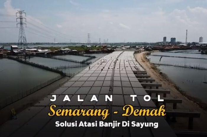 Tol Semarang-Demak di tepi laut