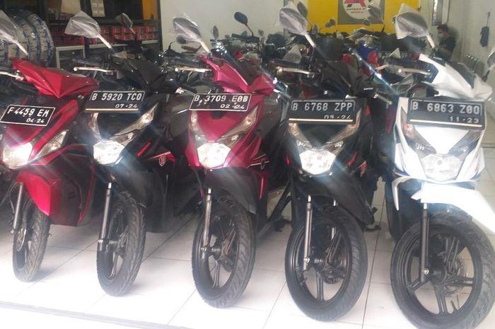 Ilustrasi Honda BeAT di showroom motkas Antara Motor