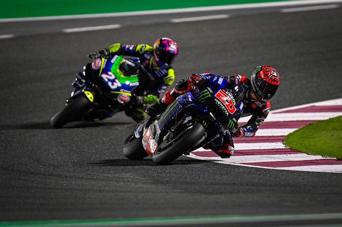 Fabio Quartararo berhasil menjadi pembalap tercepat di tes pramusim MotoGP Qatar 2021 hari kedua (7/3)