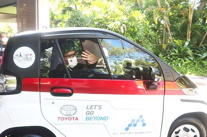 Sandiaga Uno Jajal Tiga Mobil Listrik Yang Tersedia Dalam Ev Smart Mobility Project Sebut Dirinya Dukung Gerakan Ini Gridoto Com