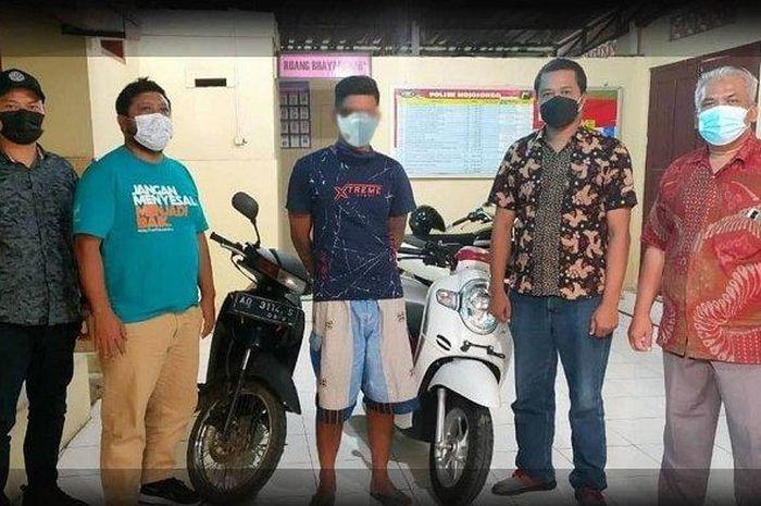 Pelaku pencurian motor tinggalkan motor milik Paryani di Kampung Sidomulyo, Kelurahan/ Mojosongo, Kabupaten Boyolali yang berhasil diamankan polisi.