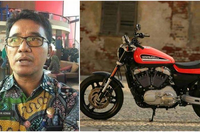 Kepala Bapenda Pemkot Makassar, Irwan Rusfiady Adnan punya koleksi moge Harley-Davidson hingga Ford Mustang.