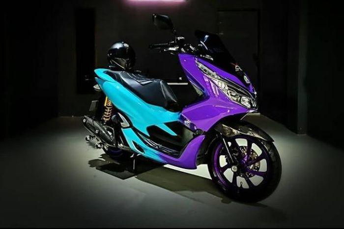 Body Honda PCX150 kece berlapis karbon kevlar senilai Rp 11 jutaan.