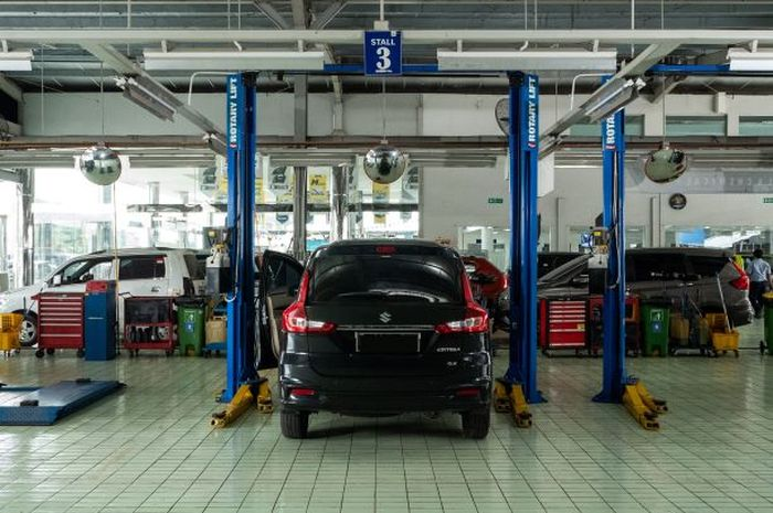 Ilustrasi bengkel resmi Suzuki