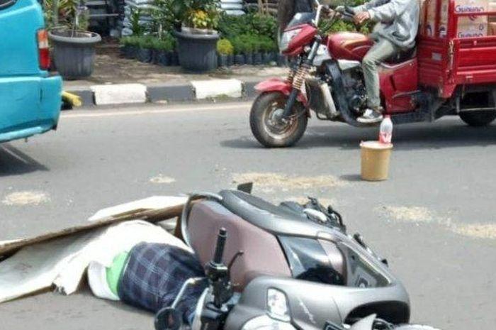 Pengendara Honda Scoopy Ditutup Kertas Meninggal, Terlindas Bus TransJakarta, Begini Kronologinya