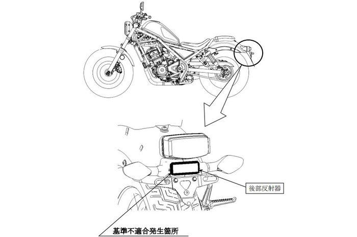 Part reflektor yang jadi biang keladi diumumkannya recall 11 model motor Honda di Thailand.