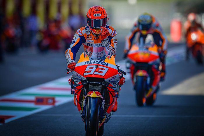 Marc Marquez terima kalau Maverick Vinales memarahinya di sesi kualifikasi MotoGP Italia 2021.