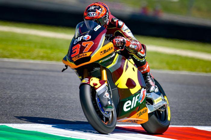 Augusto Fernandez tak tergeser di separuh FP1 Moto2 Catalunya 2021.
