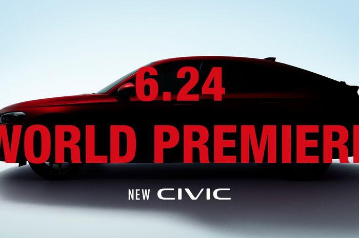 Honda bagikan teaser dan jadwal peluncuran New Honda Civic Hatchback
