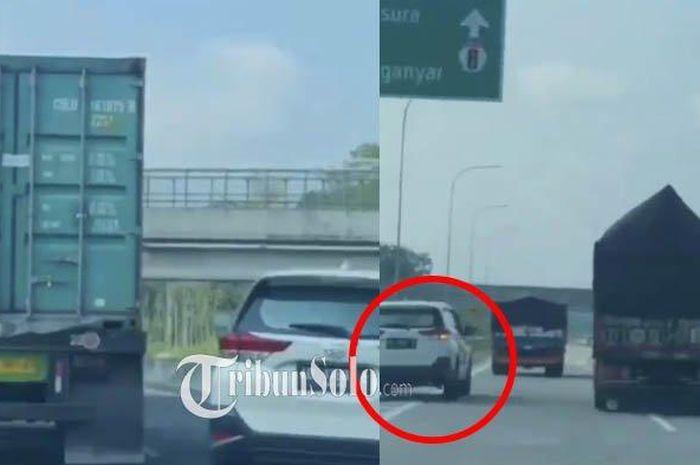 Daihatsu Terios dicari-cari usai melaju ugal-ugalan di jalan tol