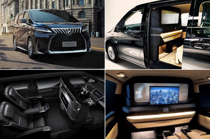 Selain Lexus LM 4 seater sebagai flagship, LM juga punta versi 7 seater yang lebih simpel