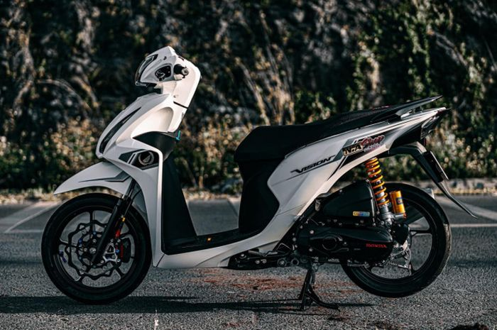 Modifikasi Honda Vision alias Spacy yang begitu elegan