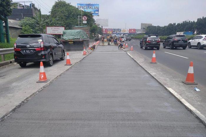 Ada perbaikan jalan di tol Jakarta-Tangerang