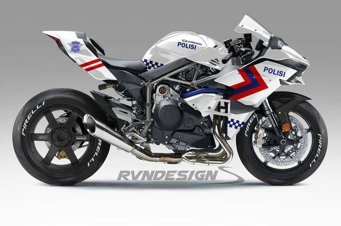 Kawasaki Ninja H2 jadi motor dinas Polisi Indonesia