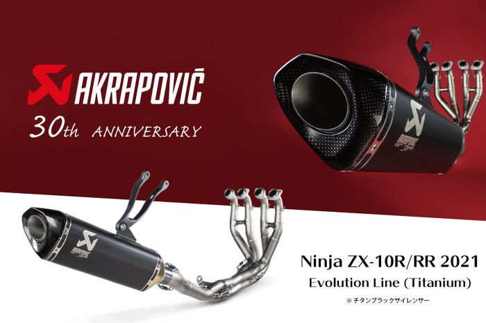 Akrapovic rayakan anniversary ke-30 dengan menghadirkan knalpot edisi khusus untuk Kawasaki Ninja ZX-10R dan RR.