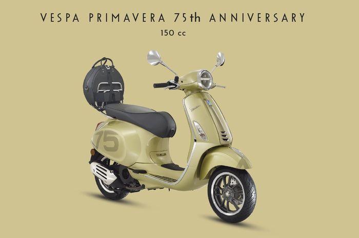 Vespa Primavera 75th Anniversary Limited Edition hadir dengan tampilan yang segar serta fitur baru