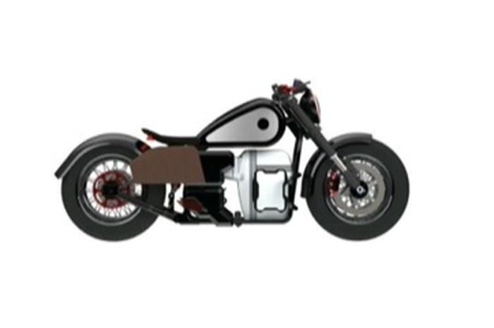 Begini tampilan motor lisrtik bergaya bobber garapan GUbernur Jawa Barat, RIdwan Kamil