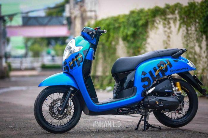 Modifikasi stylish Honda Scoopy