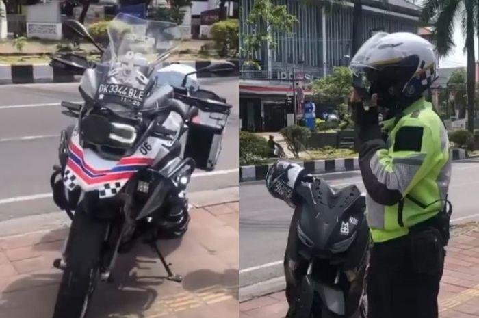 Viral bule jadi polisi gadungan tilang pengendara motor di Bali.