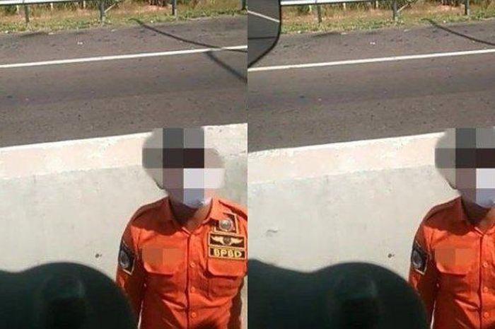 Rekaman video saat oknum Satpol PP, BPBD dan Dishub Ogan ilir lakukan pungli di pos penyekatan gerbang tol Kramasan, Ogan Ilir, Sumatera Selatan