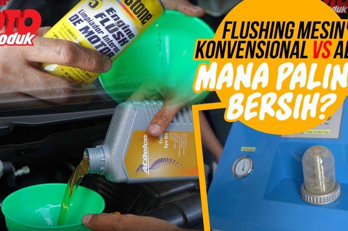 Tes flushing mesin secara manual vs pakai alat, mana paling bersih?