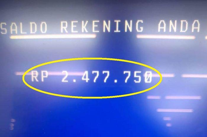 Jangan kaget cek ATM saldo bertambah Rp 1 juta