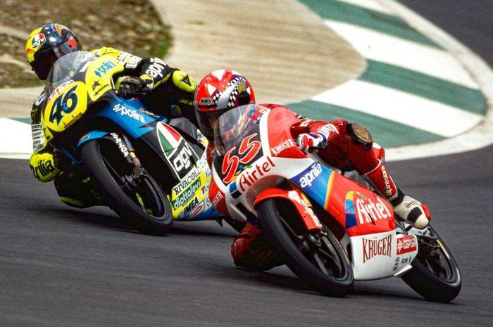 Valentino Rossi dan Jorge Martinez di GP125