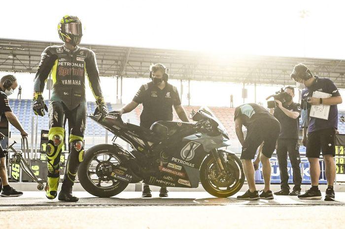 Valentino Rossi belum 100% dengan motornya