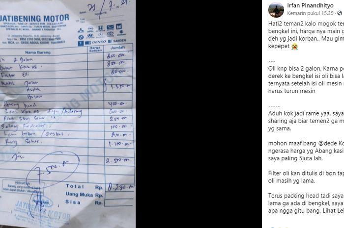 Viral Pemilik Starlet Curhat biaya perbaikan mahal