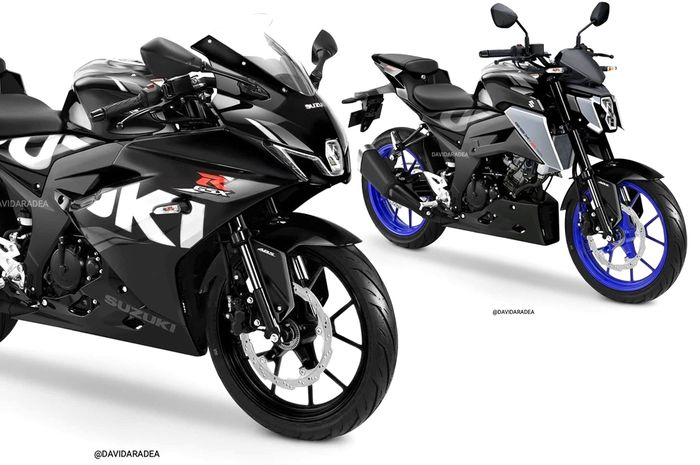 Desain GSX-R150 dan GSX-S150 ala David Aradea