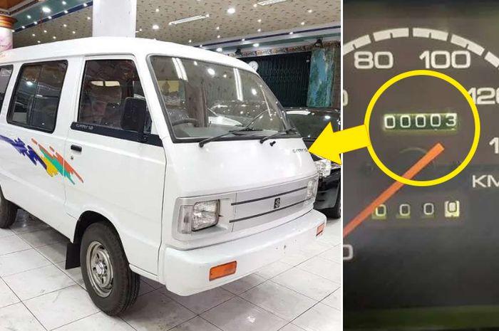 Suzuki Carry 1000 bikin melotor, odometer baru 3 km. Sedang cari kolektor yang berani meminangnya.