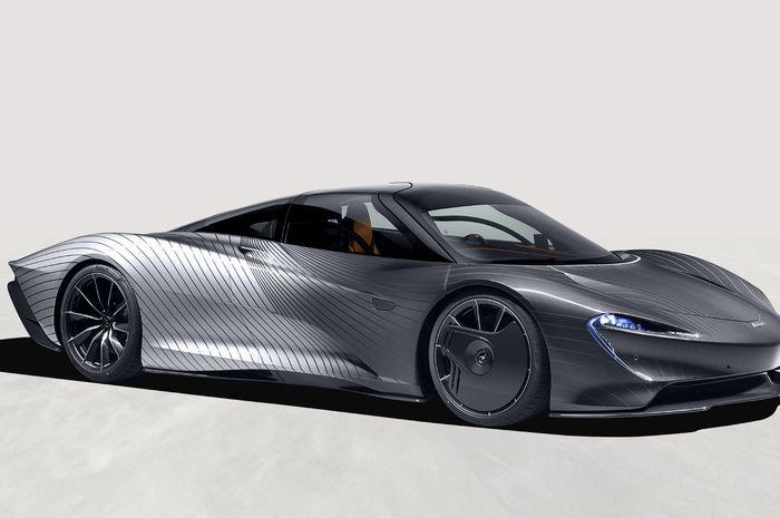 McLaren Speedtail 'Albert' yang memiliki tampilan unik dua warna.
