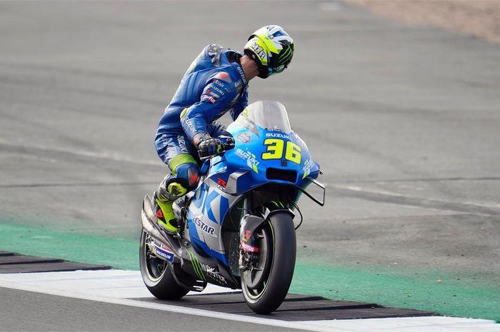 Joan Mir tidak mendapatkan lap time yang konsisten di sirkuit Silverstone sejak latihan dan kualifikasi MotoGP Inggris.