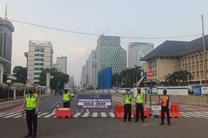 Ilustrasi penerapan ganjil genap di Jakarta