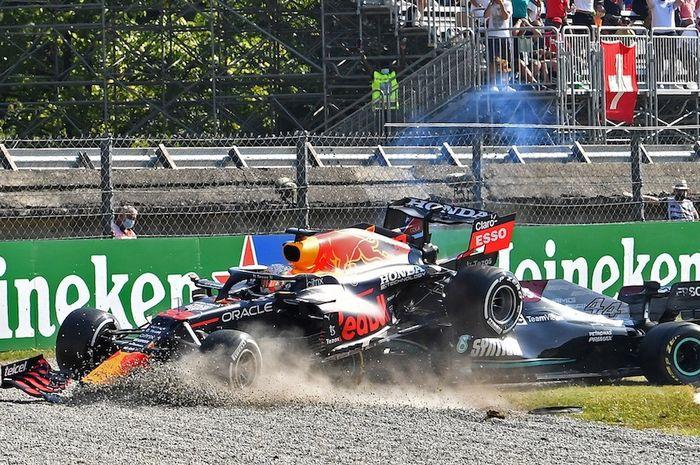 Insiden Max Verstappen dan Lewis Hamilton
