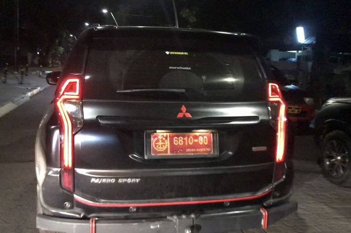 Mitsubishi Pajero Sport pakai pelat Denma Mabes TNI Palsu ditangkap di Jl Bulungan Raya, Kramat Pela, Kebayoran Baru, Jaksel
