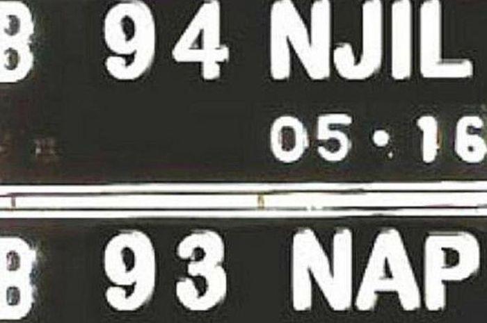 Ilustrasi tanda nomor kendaraan(komisikepolisianindonesia.com)
